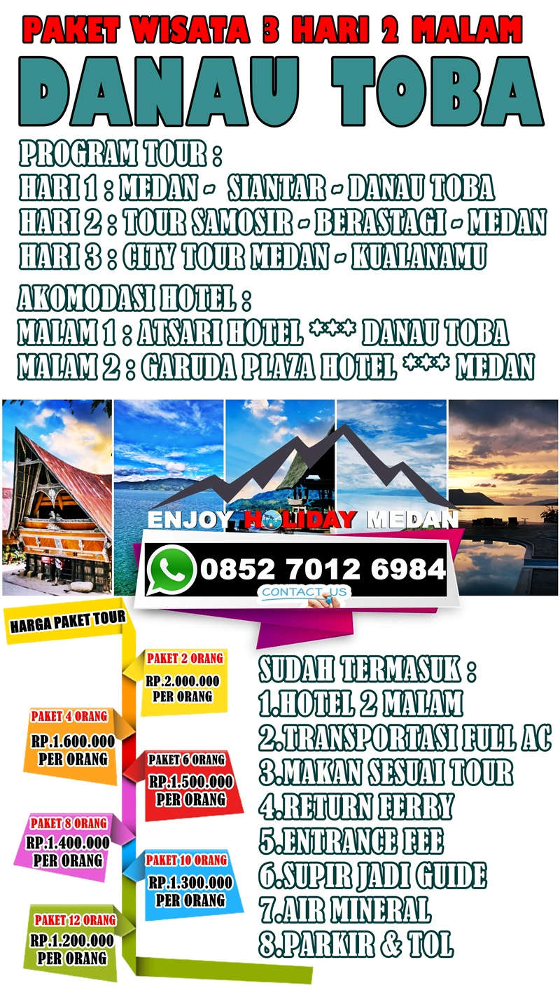 3D2N Lake Toba Tour Package Malaysia