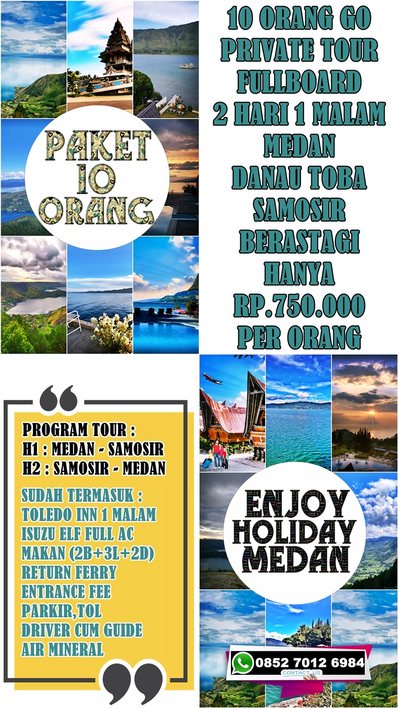 Tour Danau Toba 1 Hari