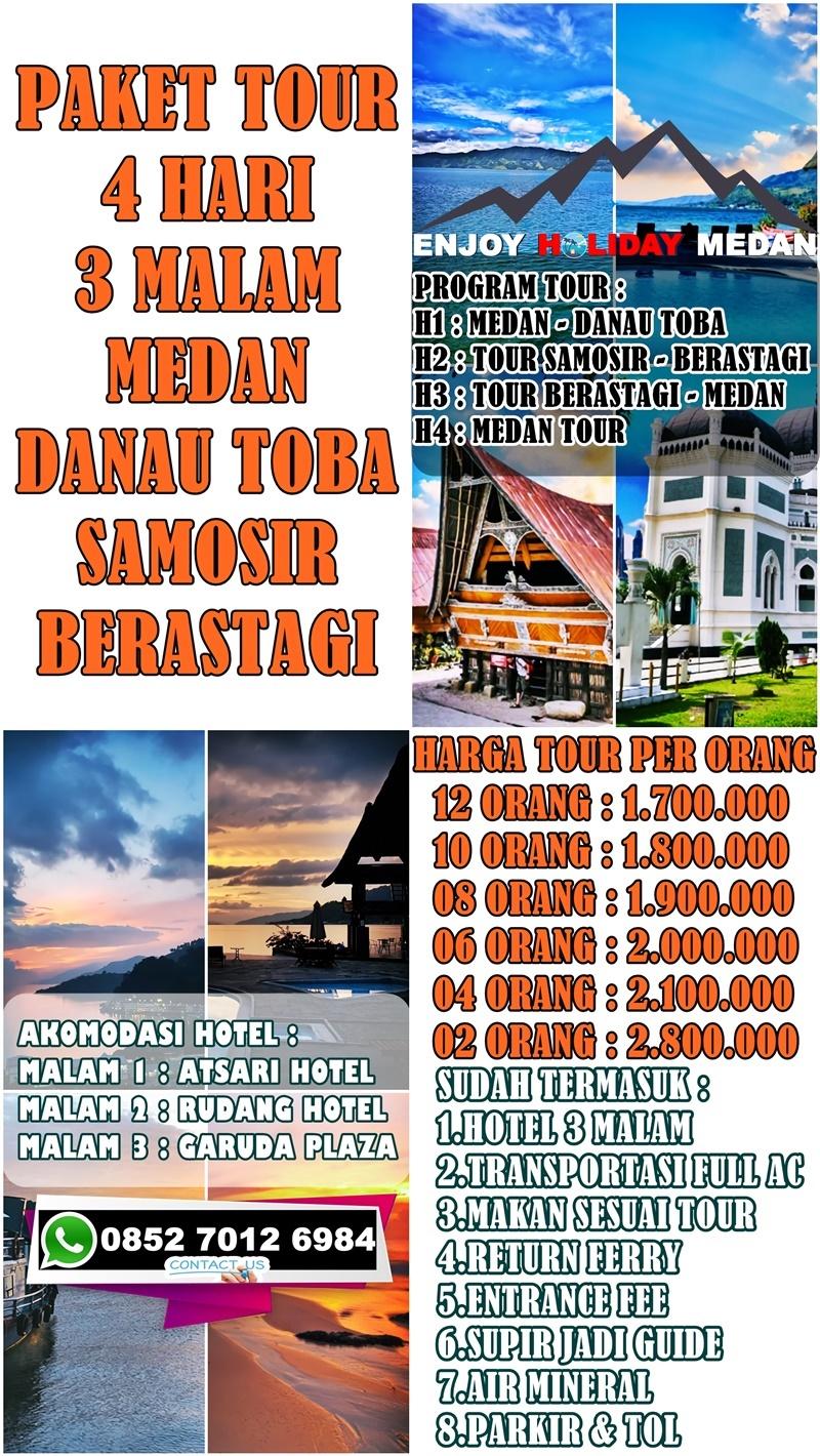 4D3N Medan Lake Toba Samosir Berastagi Tour